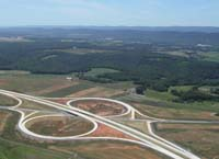 Aerial View of HIghway Exits/Entries
