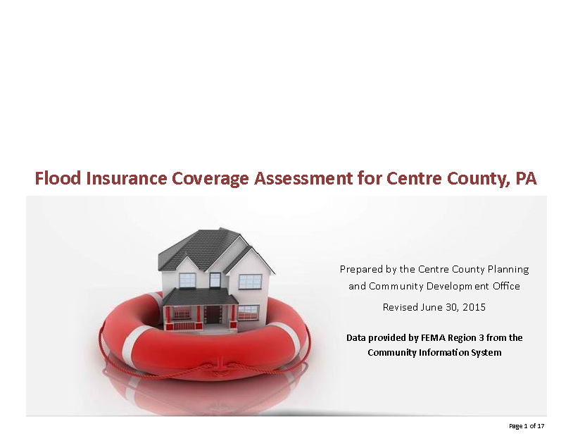 Centre County Flood Insurance Assessment (2015)