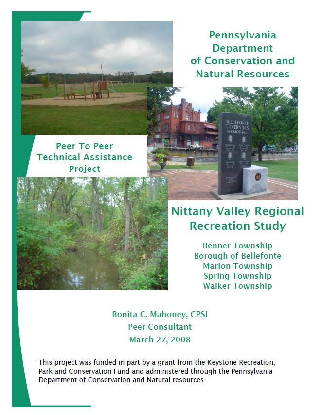 Nittany Valley Peer Recreation Study Cover