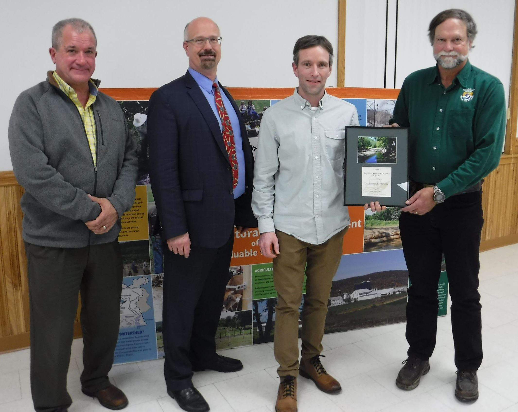 Watershed Stewardship Award 2019 winner, Larry Brannaka