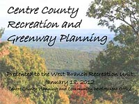Centre County Recreation and Greenway Planning [PDF]