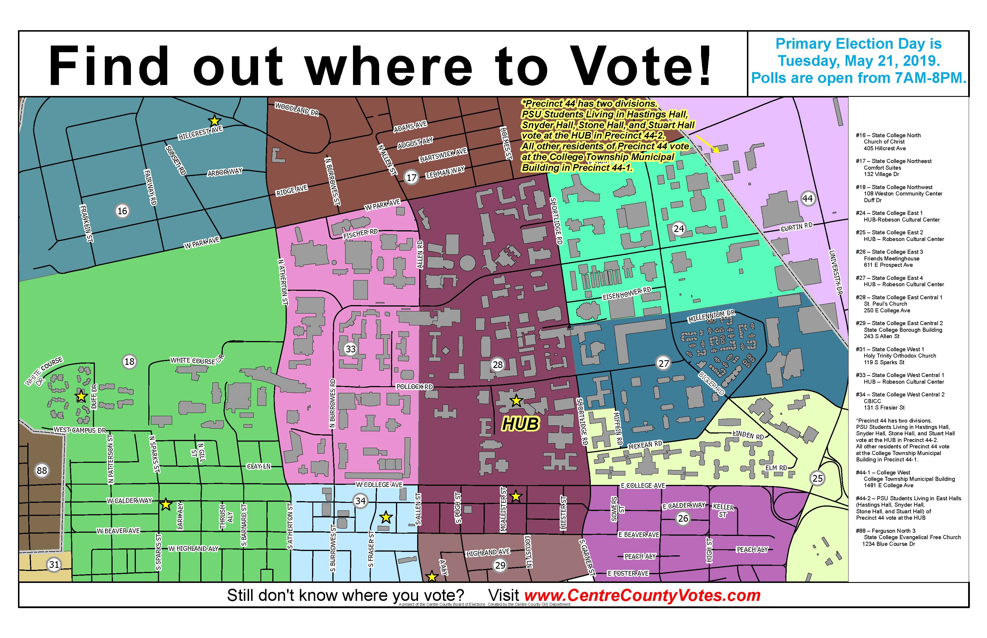 Centre County Pa Official Website Elections Voter Registration - Google-us-election-map